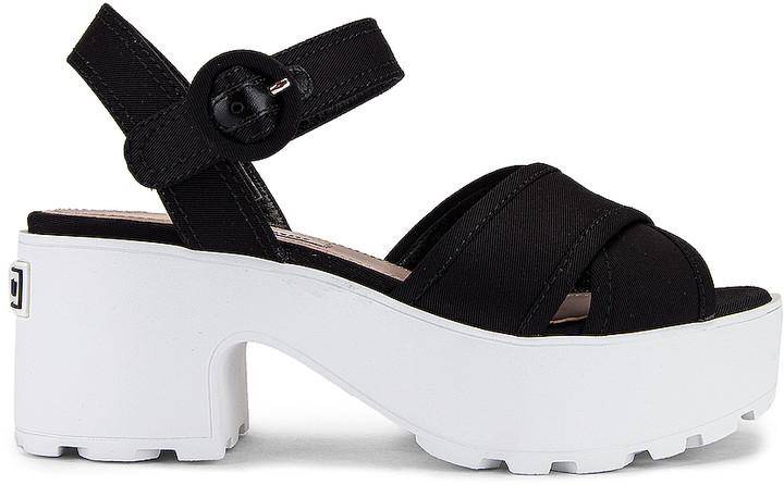 Miu Miu Platform Sandals in Black | FWRD