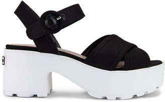 Miu Miu Platform Sandals in Black | FWRD