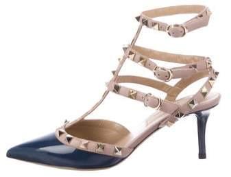 Patent Leather Rockstud Sandals Leather Rockstud Patent Sandals Patent Ygymv7Ibf6