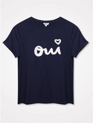 M&Co Khost Clothing Oui slogan top