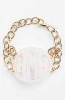 Moon and Lola 'Annabel' Large Personalized Monogram Bracelet
