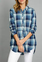 Mod-o-doc Indigo Plaid Button-Up