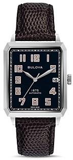 Bulova Limited Edition Joseph Breton Lizard-Embossed Leather Strap Automatic Watch, 32mm x 45.5mm