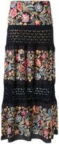 Cecilia Prado long knitted skirt - women - Acrylic/Lurex/Viscose - P