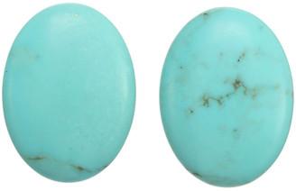 Margo Morrison New York Silver Turquoise Post Earrings