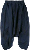 Comme des Garcons drop-crotch draped shorts - women - Polyester - S