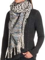 La Fiorentina Reversible Wool Wrap Scarf (For Women)