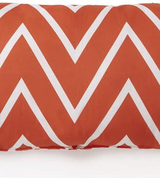 Colcha Linens Flamingo Palms Long Rectangle Cushion - Orange Zigzag Bedding