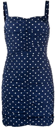 P.A.R.O.S.H. Polka Dot Print Mini Dress