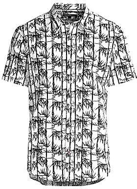 John Varvatos Men's Bamboo-Print Short-Sleeve Shirt