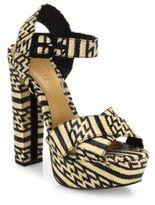 Schutz Theon Printed Platform Sandals