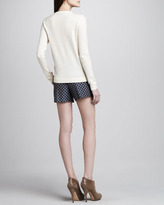 Theory Yulia Leather-Front Sweater