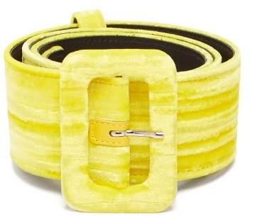 ATTICO The Velvet Belt - Womens - Yellow