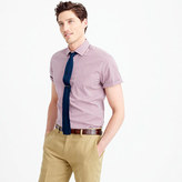 Thomas Mason for J.Crew Ludlow short-sleeve shirt in red tattersall