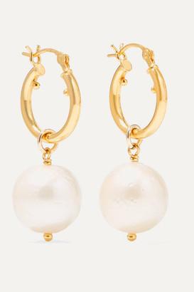 Chan Luu Gold-plated Pearl Earrings