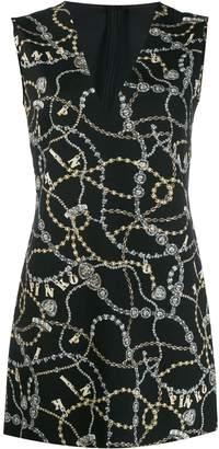 Pinko chain-print v-neck dress