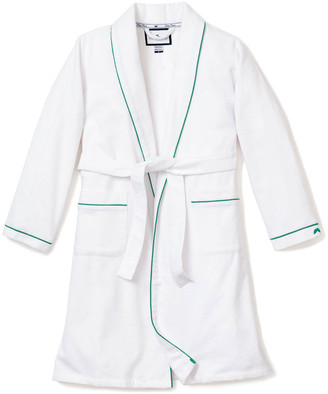Petite Plume Kid's Flannel Contrast Piping Robe, Size 1-14