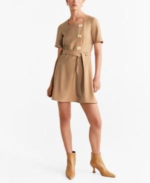 MANGO Detail Button Dress