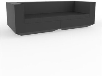 Vondom Vela Chesterfield Patio Sofa with Cushions Color: Anthracite