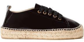Manebi Patent-leather Platform Espadrille Sneakers