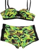 Tortor 1bacha Kid Girls' Camo Print Padded Bra Bikini 2 Piece Swimsuit 8-9