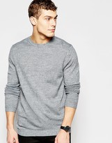 Asos Crew Neck Sweater in Gray