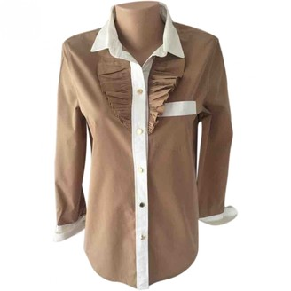 Louis Vuitton Brown Cotton Top for Women