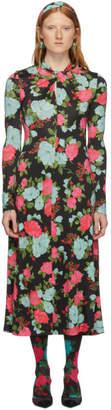 Erdem Black and Pink Nolene Dress