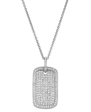 Serena Williams Jewelry Diamond (1/2 ct. t.w.) Dog Tag Necklace in 14K White Gold