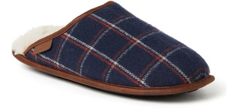 Dearfoams Men's Woven Plaid Scuff Slippers - Riley