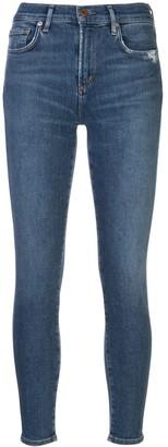 AGOLDE Cropped Skinny Denim Jeans