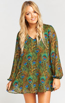 MUMU Donnie Dress ~ Peacock