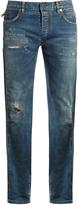 Balmain Distressed slim-leg denim jeans