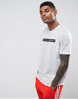 Criminal Damage T-Shirt In White With Speckle