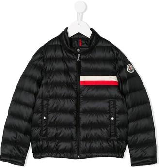 Moncler Enfant Striped Detail Padded Jacket