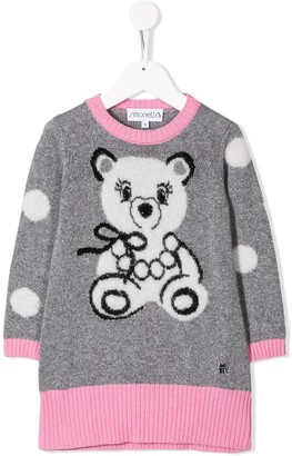 Simonetta Bear Intarsia Knitted Dress
