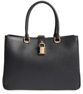 Dolce & Gabbana Grained Leather Shopper - Black