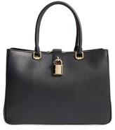 Dolce & Gabbana Grained Leather Shopper - Black