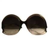 Balenciaga Anthracite Plastic Sunglasses