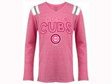 5th & Ocean Girls' Chicago Cubs Heart Pink Long-Sleeve T-Shirt