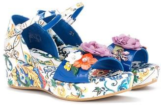 Dolce & Gabbana Printed Applique Sandals