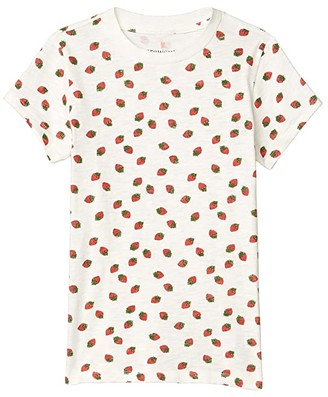 crewcuts by J.Crew Short Sleeve Strawberry Graphic Tee (Toddler/Little Kids/Big Kids) (Ivory/Red) Girl's Clothing