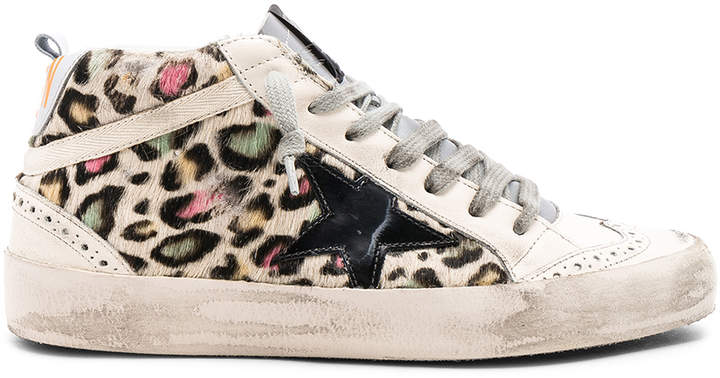 Golden Goose Cow Fur Mid Star Sneakers