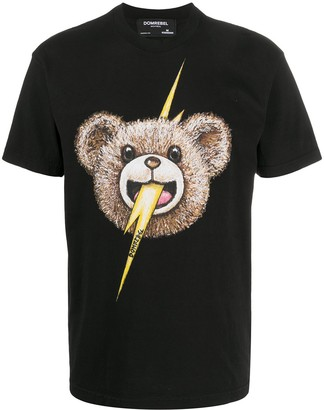 Dom Rebel Bolt face print T-shirt