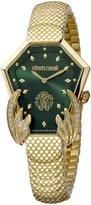 Roberto Cavalli HEXAGON SNAKE Women's Swiss-Quartz Stainless Steel Bracelet Watch
