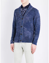 Etro Palm-print Knitted Cotton-blend Cardigan