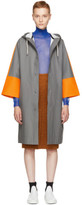 Marni Grey and Orange Stutterheim Edition Colorblock Raincoat