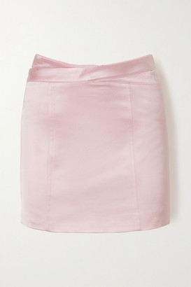 GAUGE81 Monteria Cutout Satin Mini Skirt - Pink