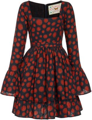 Agua Bendita Curuba Erizos Mini Dress