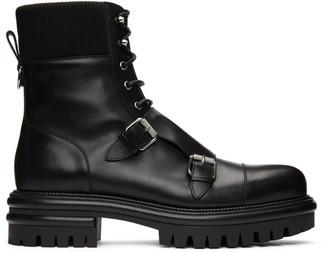 Christian Louboutin Black Yetito Combat Boots